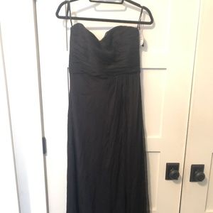 Amsale Bridemaid dress long Crinkle Chiffon Black